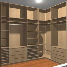Closet Pequeno Quartos Casal Ideas For 2020 Corner Wardrobe, Wardrobe Design Bedroom, Master Bedroom Closet, Bedroom Wardrobe, Wardrobe Closet, Walk In Closet, Corner Closet, Double Closet, Closet Space