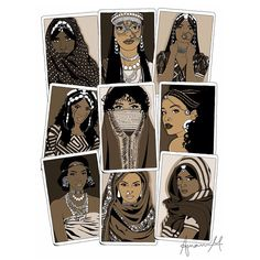 The 9 tribes of #Eritrea: - (Left to Right) - Bilen, Afar, Hedareb, Nara, Rashaida, Tigriniya, Kunama, Saho & Tigre