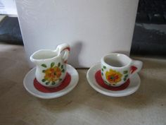 Vintage Doll House Cup and Saucer  Water by JewelsOfHighElegance, $10.00
