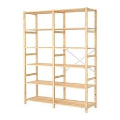 IKEA - IVAR, 2 sections/shelves, Untreated solid pine is a durable natural material that can be painted, oiled or stained according to preference.You can move shelves and adapt spacing to suit your needs. Cube Storage, Garage Storage, Solid Pine, Solid Wood, Ivar Regal, Bottle Rack, Storage Solutions, Plank, Furniture