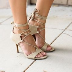I just added this to my closet on Poshmark: Christian Sirano Beige Heels.  Size: 8.5
