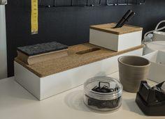 KVISSLE doos met deksel   #IKEA #LangLeveVerandering #make-over #ZZP #werkplek #opberger #kurk Ikea Office Organization, Student Room, Best Ikea, Box With Lid, Dog Bowls, Ikea Hacks, College, Interior Design, Craft