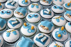 Cupcakes para babyshower de mellizos o gemelos / Twins Baby shower cupcakes.
