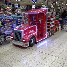Coca-cola truck display