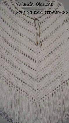 Cómo Tejer un Poncho Fácil y Moderno / Paso a paso | Crochet y Dos agujas - Patrones de tejido