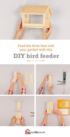 Make your own bird feeder and welcome all birds into your garden. It will also give your house a rustic touch! Want to transform your home with DIY projects? Don't miss www.youjustdo.co.uk!
