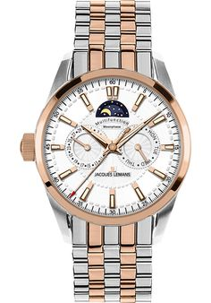 (Limited Supply) Click Image Above: Jacques Lemans Men's Liverpool Moon Phase Stainless Steel Ip-rose Duetone Wat Gents Watches, Cool Watches, Watches For Men, Moon Phases, Stainless Steel Watch, Le Mans, Liverpool, Omega Watch, Stuff To Buy