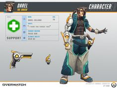 Darel is my fanart for Overwatch I hope so you like it. And thanks to Blizzard, Overwatch inspires me. Overwatch New Hero, Overwatch Fan Art, Character Concept, Character Art, Concept Art, Overwatch Skin Concepts, Overwatch Costume, Robot Girl, Hero Costumes