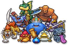 Dragon Quest Monsters/Rocket Slime, will they ever return to the west? Dragon Quest, The Dark One, Pixel Art Games, Reference Images, Video Game Art, Final Fantasy, Slime, Bowser, Chibi