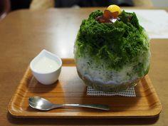 Japanese Shaved Ice Dessert - Maccha Kintoki by INZM., via Flickr