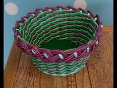 Pletení z papíru - košík Velikonoce - YouTube Paper Weaving, Diy And Crafts, Basket, Make It Yourself, Youtube, Projects, Recycling, Hampers, Recycle Paper