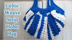 Crochet tutorial that teaches you how to crochet a hobo bag using strips of celtic weave. For written pattern http://www.meladorascreations.com/celtic-weave-...
