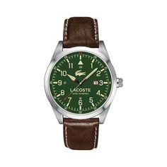 Men's green dial strap watch 2010781