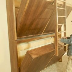 Love this from CustomMade - Fold up bunk beds!