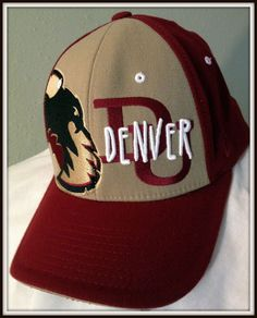 UNIVERSITY OF DENVER PIONEERS ZEPHYR Z CAP ADULT FLEX FIT MEDIUM LARGE FREE SHIP #Zephyr #DenverPioneers