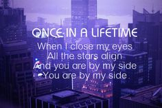 """Once in a Lifetime"" by One Direction.  <3"