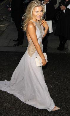 Mollie King Glams Up In A Julien Macdonald Maxi Dress