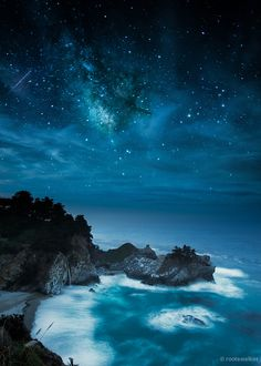 The Milky Way over McWay Falls, Big Sur, California, USA!