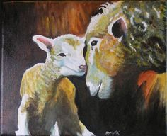 Bunny's Artwork: Mother and Baby Painting