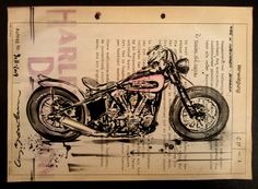 CAY BROENDUM SPARE TIME: Motorcycle Art
