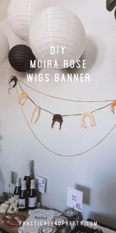 If you're throwing any sort of event about Schitt's Creek you're going to obviously need this Moira Rose wigs banner. I mean how could you not?