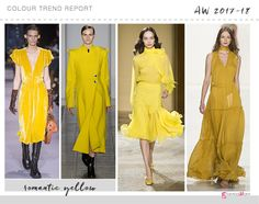 romantic yellow colour trend