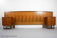 MID Century Modern Bedside Tables Drawers BED Head Retro Vintage Danish Parker in Narre Warren, 360 MODERN FURNITURE VIC | eBay
