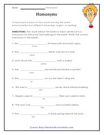 Teaching your kid the concept of homonyms is a herculean task. But with Easy Teacher's homonym worksheets it no longer remains a difficult job. 2nd Grade Worksheets, Worksheets For Kids, Reading Comprehension Worksheets, Spelling, Bookmarks, Teaching, Grade 2, Language Arts, Grammar