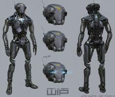 Ben Mauro - 'DRONE' Robot design by Long Ouyang and Ben Mauro....