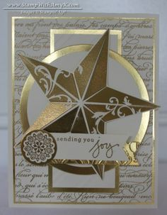 Christmas Star in Gold and Vanilla – Stampin' Up!