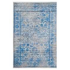 Anchor your living room seating group or define space in the den with this artfully crafted rug, featuring a distressed Persian-inspired motif for eye-catchi...