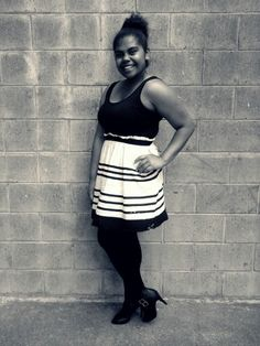 Black and white stripe dress for only $5
