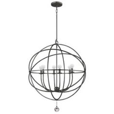 Check out the Crystorama 9228-EB Solaris 6 Light Up Lighting Large Chandelier in English Bronze priced at $500.00 at Homeclick.com.