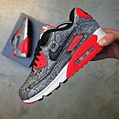 "11.7k Likes, 119 Comments - Airmaxalways (@airmaxalways) on Instagram: ""Nike Airmax 90 x 'Paisley' Infrared 25 Anniversary • Shoutout to @hopsmn on picking up these…"""