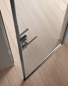 Hinged glass and aluminium door G-LIKE | Hinged door by GIDEA