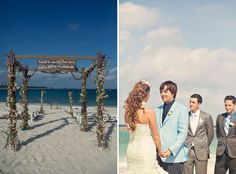i NEED to know where this is.. i love the shipwrecked viney feel to this beach wedding.(: