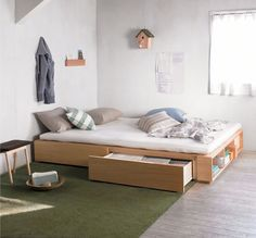 Feeling really inspired by Muji bedrooms lately. Hope to redecorate my red and black room to one that has white tones! *.*