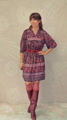 vintage 70s boho dress / gauze paisley floral by FiregypsyVintage, $42.92