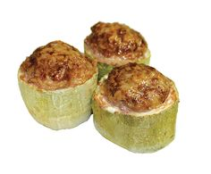 Stuffed Marrow Squash with Minced Chicken and Beef, Onions and Spices from #YummyMarket
