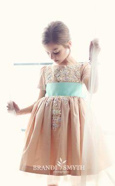 Appliquéd Dress | 41 Flower Girl Dresses That Are Better Than Grown-Up People Dresses