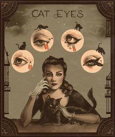 Cat Eyes by Sarah Andersen - INPRNT
