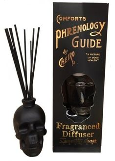 goth home / skull scent diffuser The Skull Fragrance Diffuser is a gothic fragrance accessory that will look and smell great in your crypt. The matte black skull holder comes with reeds, fragrance and a gift box. Spooky House, Home Decor Accessories, Decorative Accessories, Accessories Online, Goth Home Decor, Gypsy Decor, Gothic Bedroom Decor, Skull Bedroom, Skull Decor