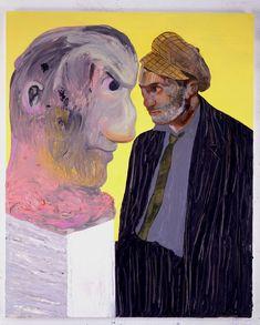 "Nicole Eisenman, ""Untitled (Portrait of a Man Wolfie)"", 2007, Oil on board, 48"" x 39"" (121.9 x 99.1 cm)"