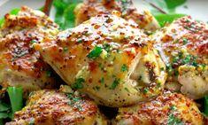 Chicken Thigh Recipes Oven, Chicken Parmesan Recipes, Honey Mustard Chicken, Honey Mustard Sauce, Wine Recipes, Great Recipes, Punch Recipes, Happy Foods, Chicken Thighs