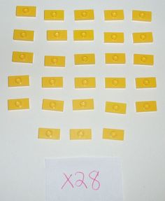 > > > $9.70 < < <   x28 LEGO 1x2 Yellow Modified plate with knob 3794 Sets 10196 8421 5887 7775 3315 #LEGO