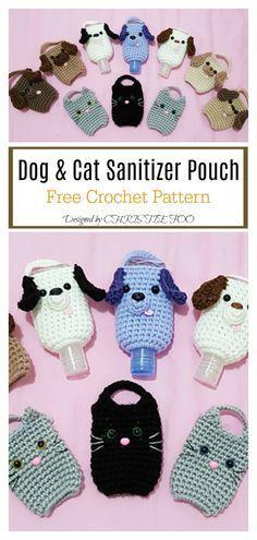 Minion Crochet Patterns, Quick Crochet Patterns, Crochet Cat Pattern, Crochet Cozy, Crochet Pouch, Crochet Designs, Crochet Geek, Dog Crochet, Crochet Accessories Free Pattern
