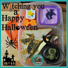 Witching You a Happy Halloween witch bento lunch #easylunchboxes