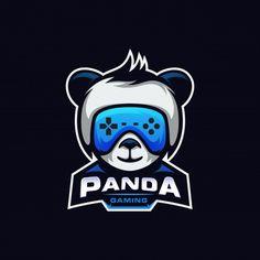 Cute mascot logo Vectors, Photos and PSD files Logo Psd, Game Logo Design, Esports Logo, Panda Art, Youtube Banners, Free Stock, Marvel Jokes, Happy Design, Badge Logo