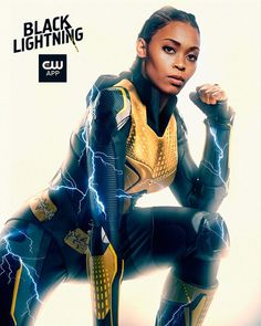 Looking for some mindblowing posters from your favorite superhero T.V series Black Lightning? Check out our best collection of Black Lightning poster. Black Lightning Tv Show, Thunder And Lightning, Lightning Powers, Black Thunder, Comic Book Characters, Comic Books, Black Canary, Batwoman, Black Kids