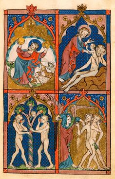 - Images from Medieval and Renaissance Manuscripts - The Morgan Library & Museum Medieval Tapestry, Medieval Art, Medieval Manuscript, Illuminated Manuscript, Religious Icons, Religious Art, Snake Painting, Adam Et Eve, Art Français